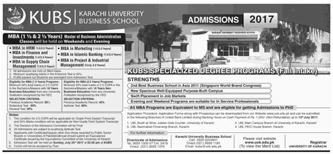 Mba Admission In Karachi 2017 by Admission Open In Karachi Business School Kubs