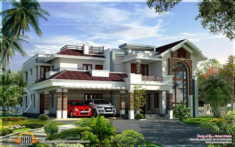 luxury villa house plans 400 square yards luxury villa design kerala home design and floor plans