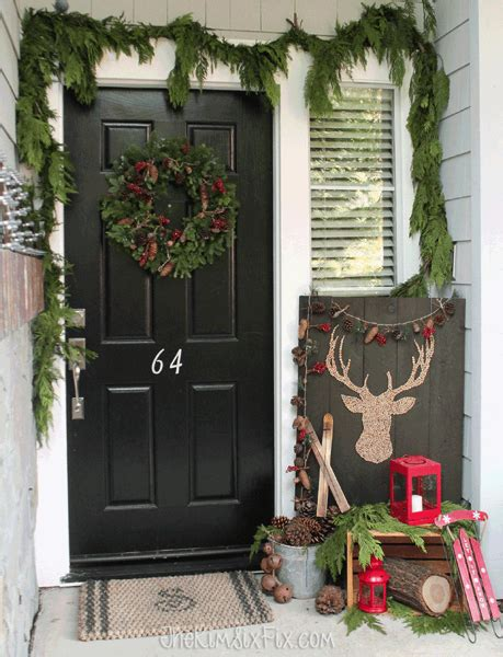 winter porch decorating ideas simple rustic winter front porch the kim six fix