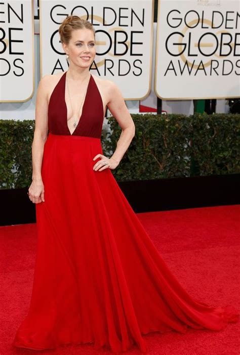 actress amy watson emma watson wears sexy backless red dress to golden globe