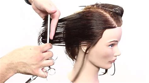 how to cut under layers how to cut a long bob with layers triangle graduation