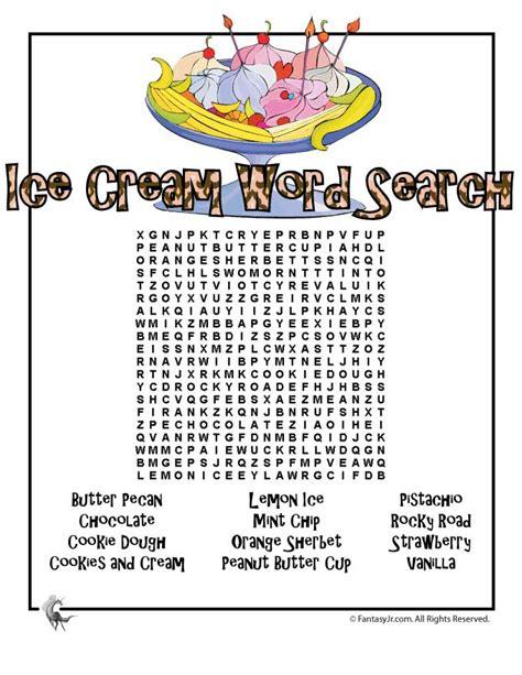 printable ice cream word games ice cream word search woo jr kids activities