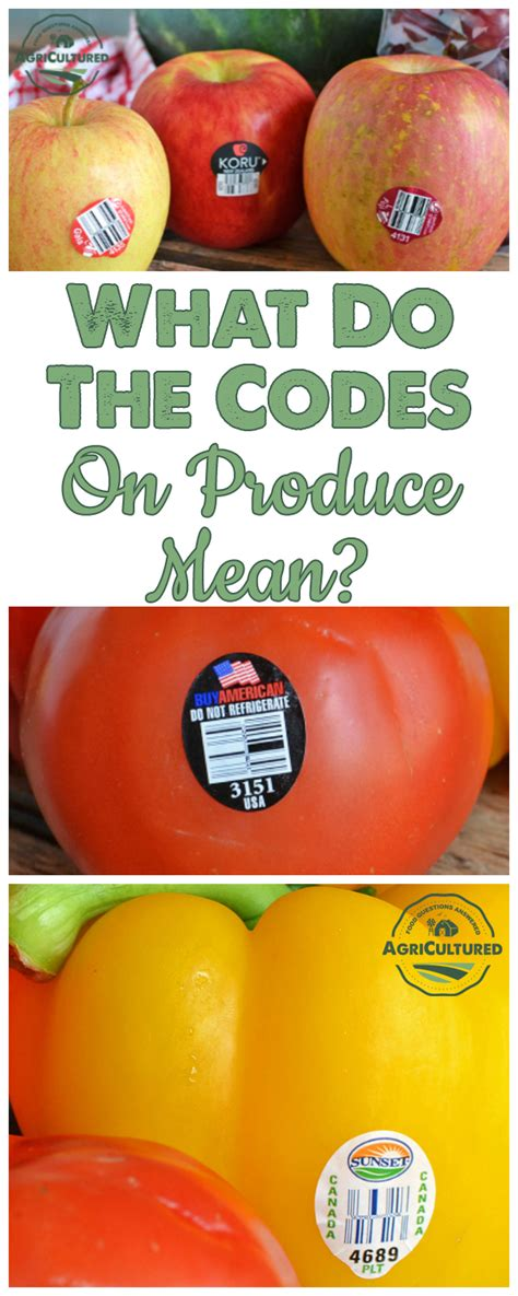 fruit 4 digit code what do the codes on produce