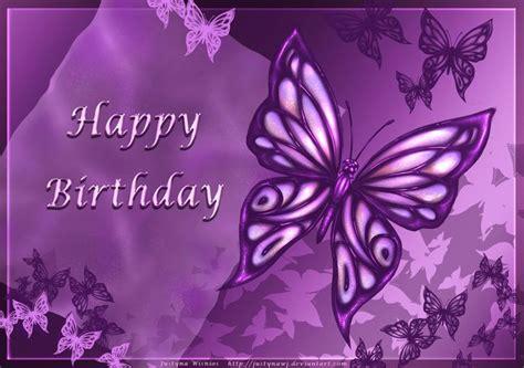 Happy Birthday Wishes Butterfly Purple Happy Birthday Cards Purple Butterfly Happy