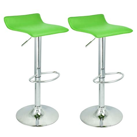 Airlift Bar Stool by New Kitchen Chair Bar Stool Airlift Swivel Barstools Adjustable Set Of 2 Ebay