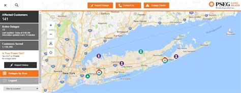 pse g outage map pseg power outage map keeps customers informed