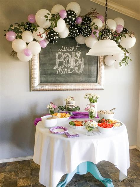 Sophisticated Baby Shower Decorations by Baby Shower Ballon Garland Decor My Name Is