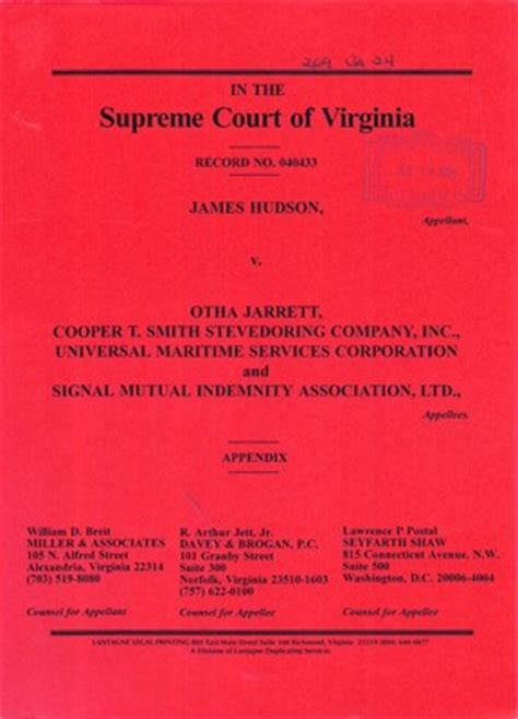 Judiciary Search Virginia Virginia Supreme Court Records Volume 269 Virginia Supreme Court Records