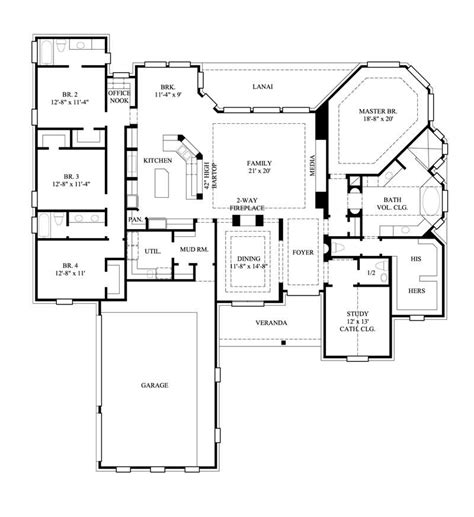 cool floor plan 4 bedrm 3367 sq ft country house plan 134 1293
