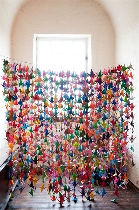 Origami Crane Curtain - would you make 1000 paper cranes if it meant a wish would