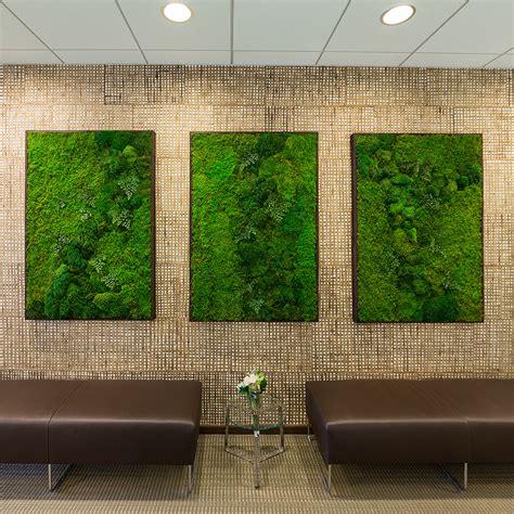 moss wall art  wabimoss green wall art