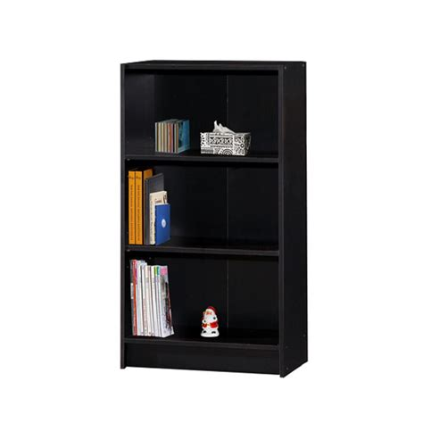 black 3 shelf bookcase hodedah 3 shelf 35 in h black bookcase hid3wd black