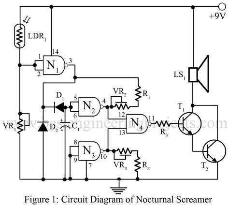 resistor only circuit nocturnal screamer best engineering projects