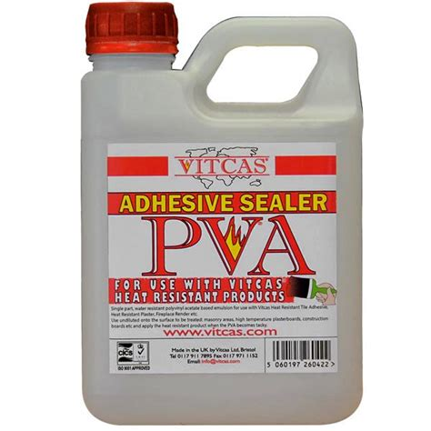 High Temperature Adhesive For Fireplace by Vitcas Pva Adhesive 1 Ltr