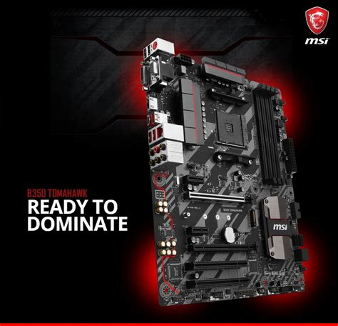 Paling Murah Msi B350 Tomahawk Socket Am4 Ddr4 msi am4 x370 b250 a320 motherboard prices for amd ryzen leaked