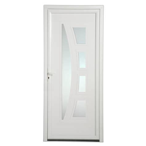 porta pvc porte d entr 233 e pvc riwa poussant droit h 215 x l 90 cm