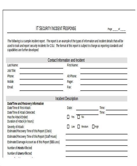 25 incident report templates in word free premium