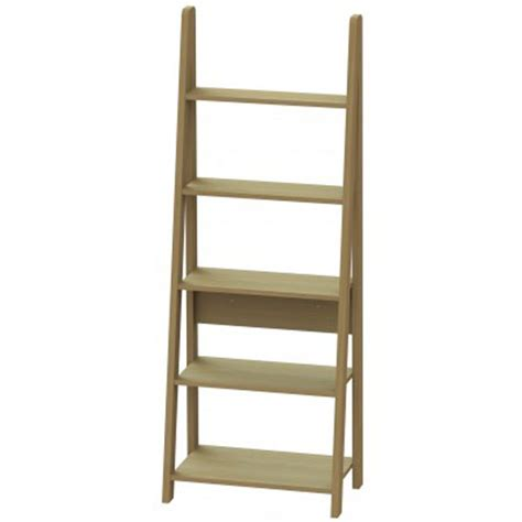 paltrow bookcase in oak with ladder style 163 89 96 go