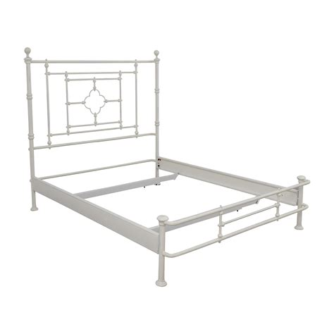 white metal bed frame queen 48 off restoration hardware restoration hardware white