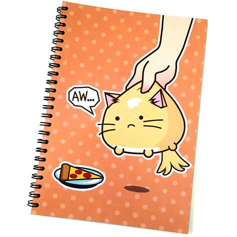 Memo Spiral College A5 Cvr Polos pizza cat note pad fuzzballs comic shirts store