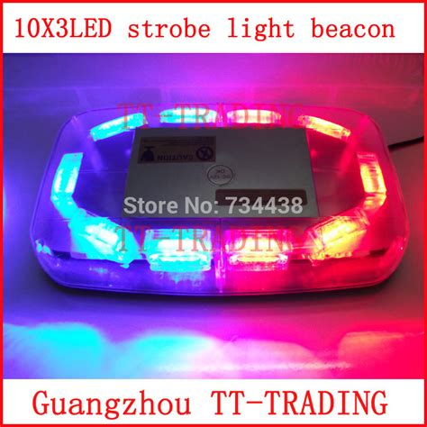 police strobe lights for motorcycles police strobe light 30led strobe lights emergency warning
