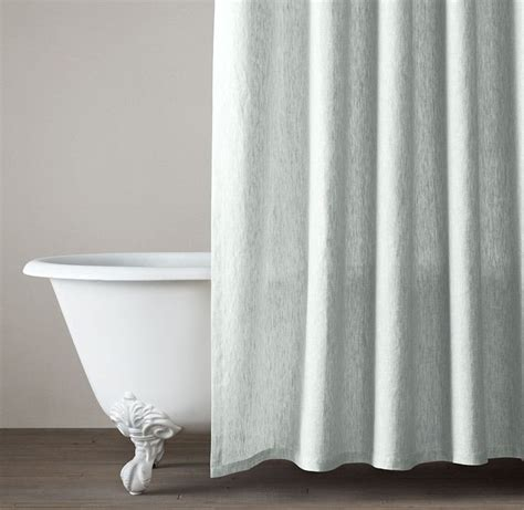 restoration hardware shower curtain rod vintage washed belgian linen shower curtain restoration