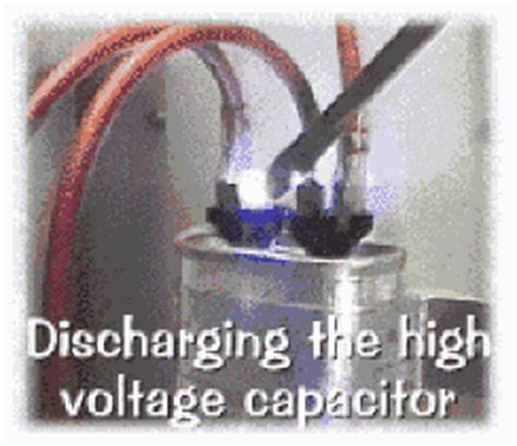 discharging a capacitor safely capacitors