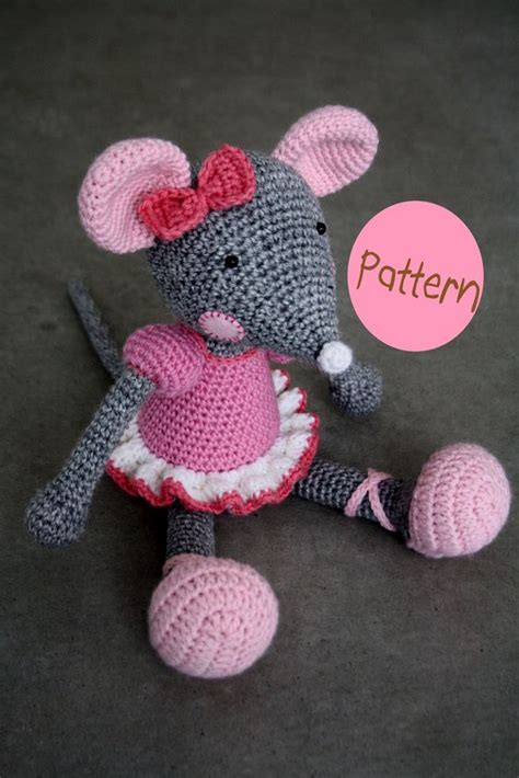 ravelry cuddly baby amigurumi doll pattern by mari liis quot pattern ballerina mouse crochet amigurumi toy quot