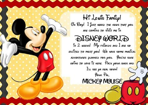 printable invitation to disney world an easy way to surprise your kids with a disney vacation