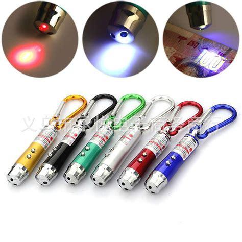 3 in 1 multifunction led flash light money check light laser light mini torch clip keychain l