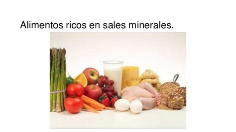 alimentos que contienen sales minerales los nutrientes