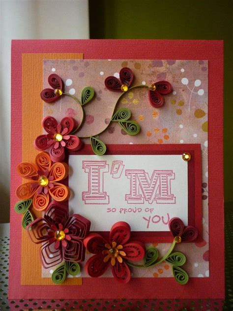 Handmade Craft Ideas Paper Quilling - best 25 proud of you ideas on
