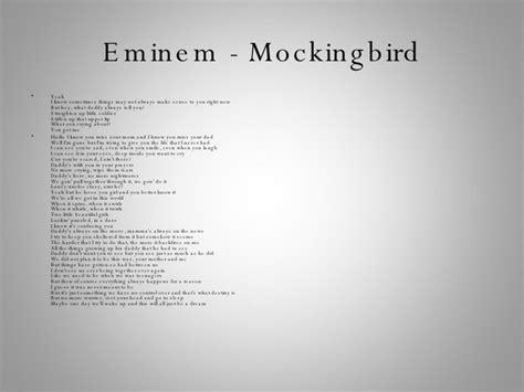 eminem mockingbird lyrics lyrics of rappers