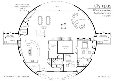 monolithic dome house plans floor plan dl 5206