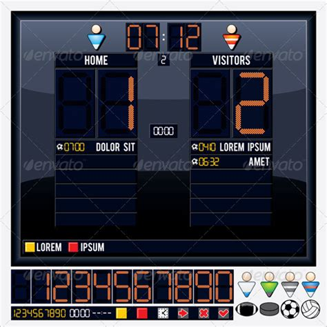 scoreboard template for powerpoint 65 scoreboard templates free psd word excel ppt formats