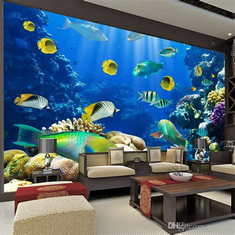 3d wallpaper for bedroom 2015 marine fish photo wallpaper 3d custom size