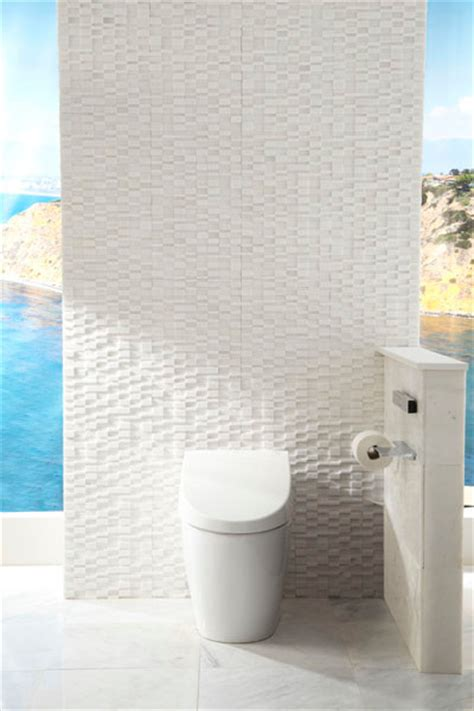 Mosaic Sconces Elevations Marble Bathroom Feature Wall Contemporary