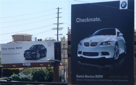Audi Marketing by The Benefit Of Billboard Brand Rivalry The Branding Journal