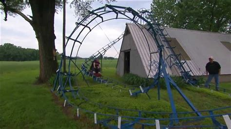 how to build a backyard roller coaster backyard roller coaster indiana oddities the weekly