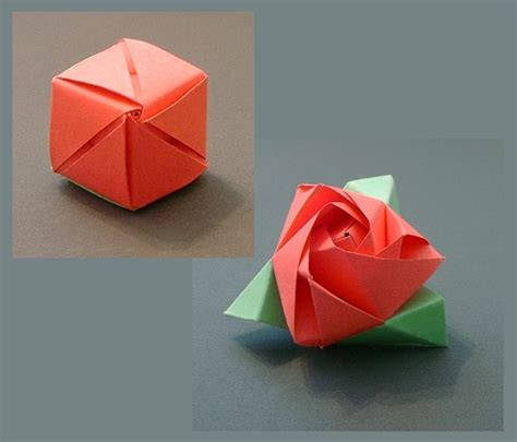 Magic Cube Origami - origami flowers page 1 of 2 gilad s origami page