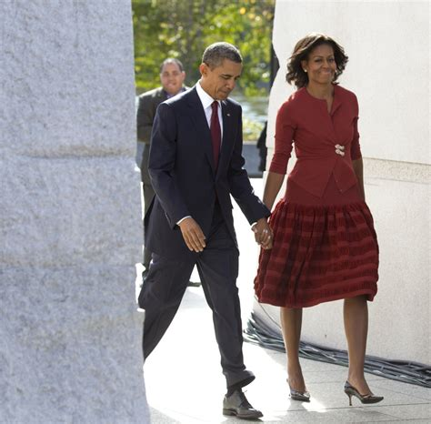Who Wore Azzedine Alaia Better Part Deux obama wears azzedine alaia dress to mlk memorial