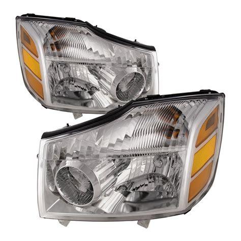 headlight set driver passenger side assembly    nissan armada   nissan titan