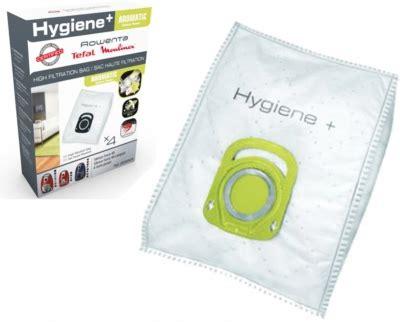 4 sacs haute filtration pour aspirateur rowenta hygiene aromatic fleur de coton zr200920