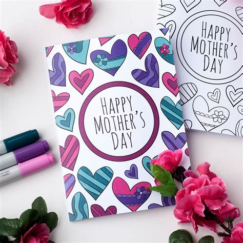 mother s free mother s day coloring card sarah renae clark