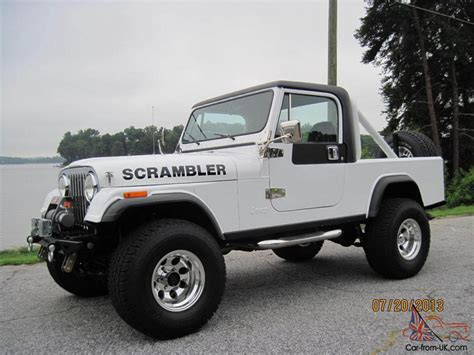 amc jeep scrambler cj8 car interior design