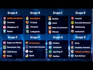 Champions league draw results 2014 2015 youtube