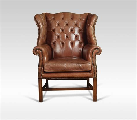 leather wingback armchair leather upholstered wingback armchair antiques atlas