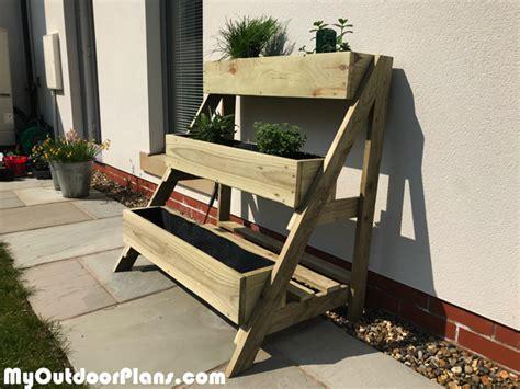 tier herb planter diy project myoutdoorplans