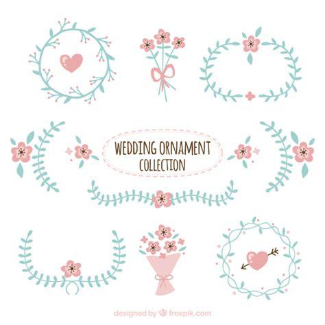 cute wedding decoration vector free download cute wedding ornament collection vector free download