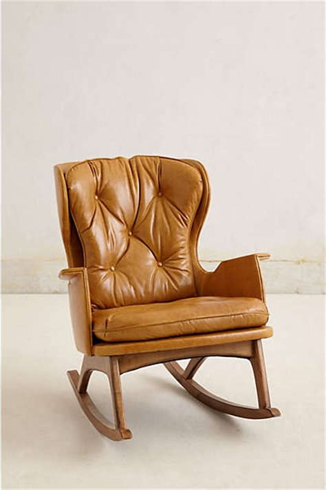 leather rocking chair remixed vintage furnishings leather finn rocker